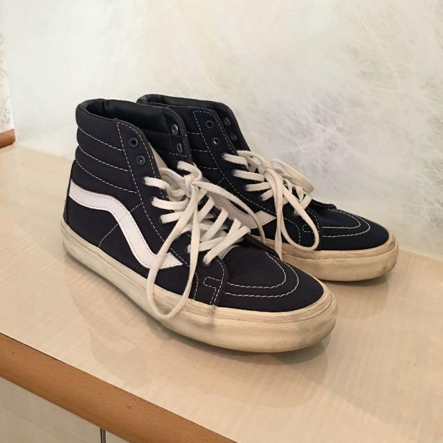 Vans深藍高筒鞋
