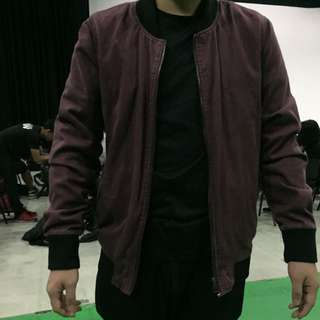 Factorie Red (fade) Bomber