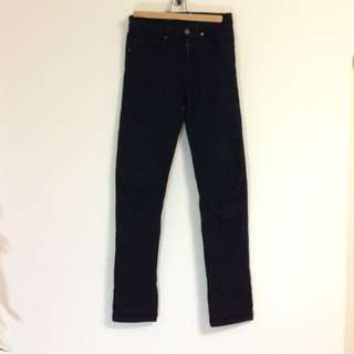 American Apparel 黑色直筒褲 cheap monday levis altamont