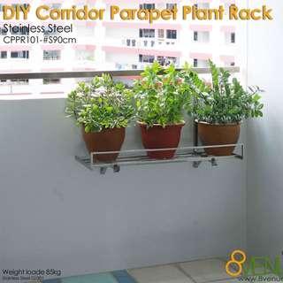 DIY Parapet Plant Racks