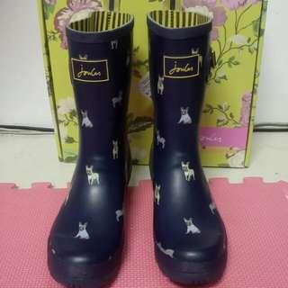 Joules狗狗滿版短筒雨靴