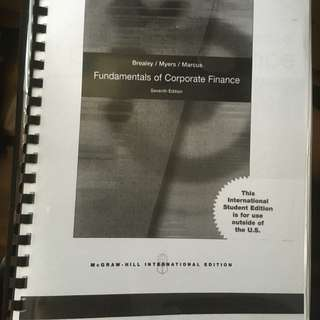Fundamentals Of Corporate Finance - 7th edition