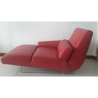 Chaise Lounge - Red colour