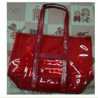 雅芳 AVON 時尚紅 防水果凍包