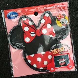 迪士尼 米奇 米妮 無黏膠造型止滑置物盤《2款選一.大臉》室內汽車兼用