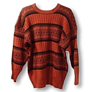 / 古著 / 紅蘿蔔橘古著毛衣