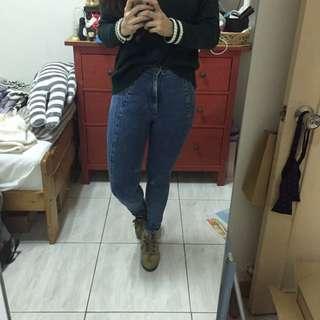 (特)Lily Brown復古高腰牛仔褲