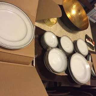 Silver Rim Vintage Dining Set