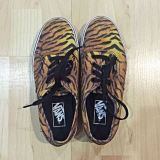 Authentic Vans Tiger Print