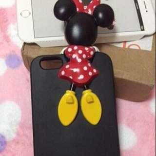 韓國代購🇰🇷迪士尼iphone6 plus手機殼6S立體米奇米妮手機殼