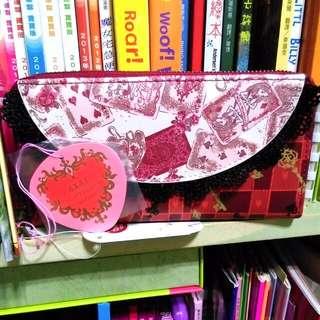 (免運)全新日本迪士尼愛麗絲 Alice Red&Black長財布/長皮夾