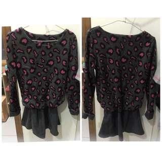 含運-粉紅豹紋連身裙