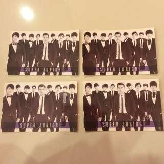 Super Junior + EXO Postcards