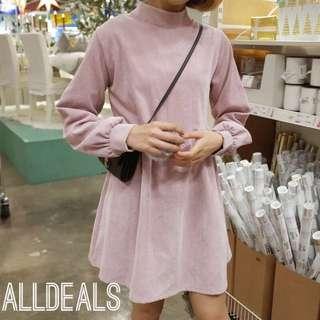 全新超好看韓版兩色燈籠芯連身裙✨