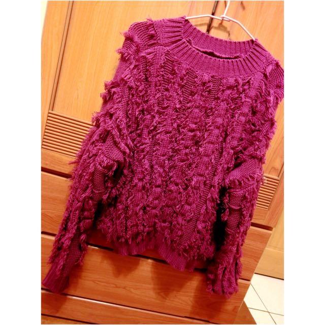 🎀紫色蝙蝠袖毛衣🎀