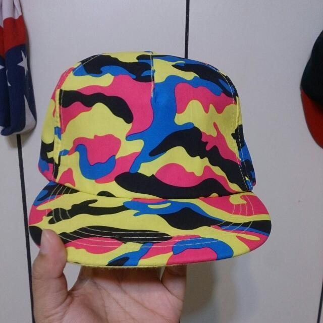 彩色迷彩棒球帽