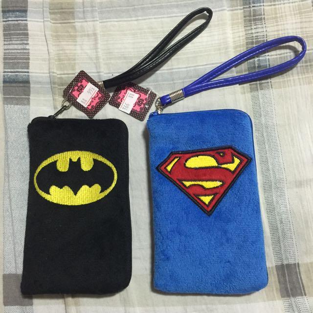 現貨,超人 蝙蝠俠,單層拉鍊,裡面有隔層,附掛繩,收納手拿零錢包袋