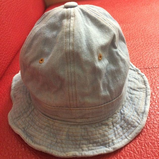 漁夫帽 淺牛仔布 帽緣可ㄠ可塑型