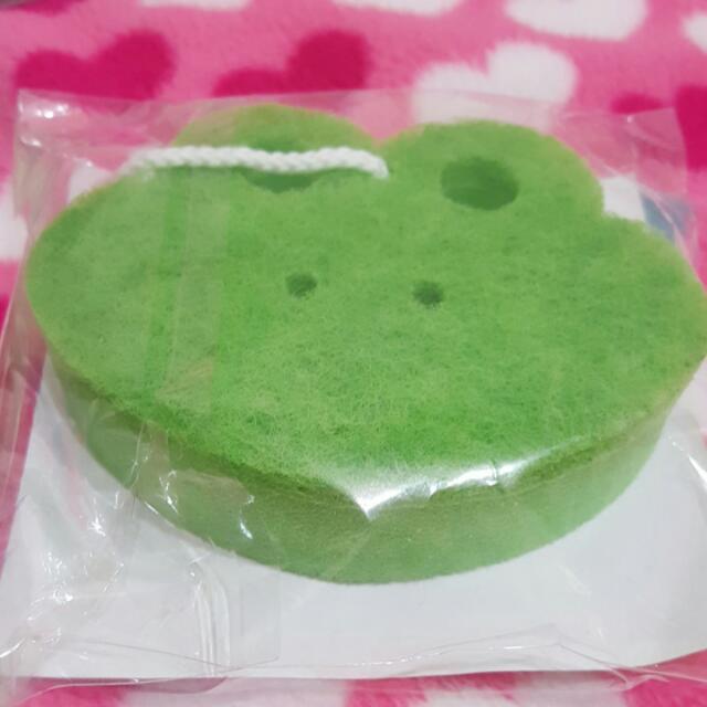 青蛙造型 綠色 海綿菜瓜布