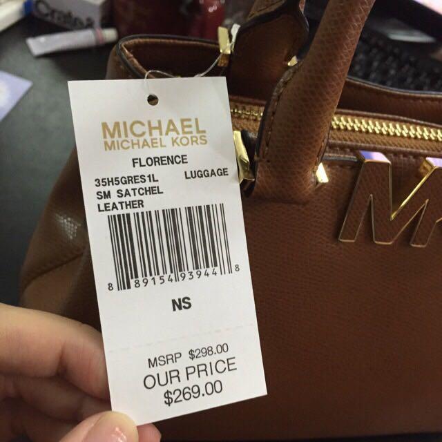 全新 Michael Kors MK手提長背包 附背帶
