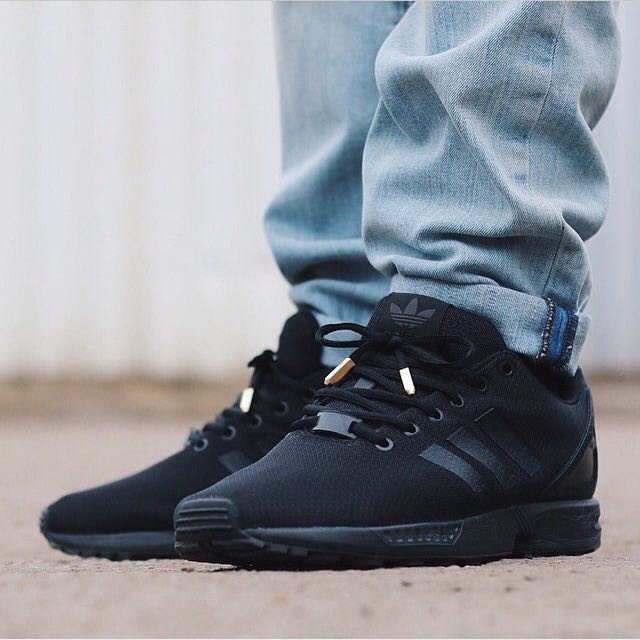 best loved d4552 b8eb1 Adidas ZX Flux Triple Black (rare), Men's Fashion on Carousell