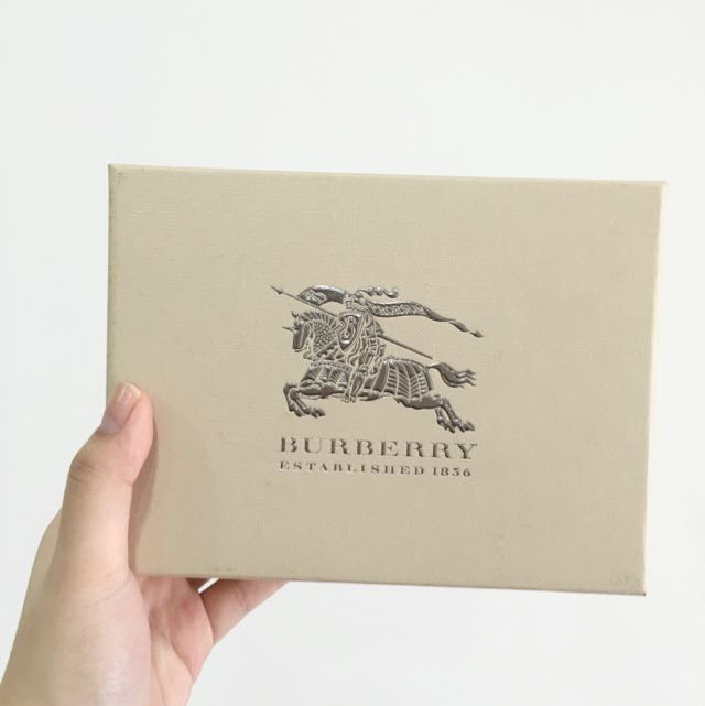 Authentic Burberry Wallet Boxes With Authentic Dust bag