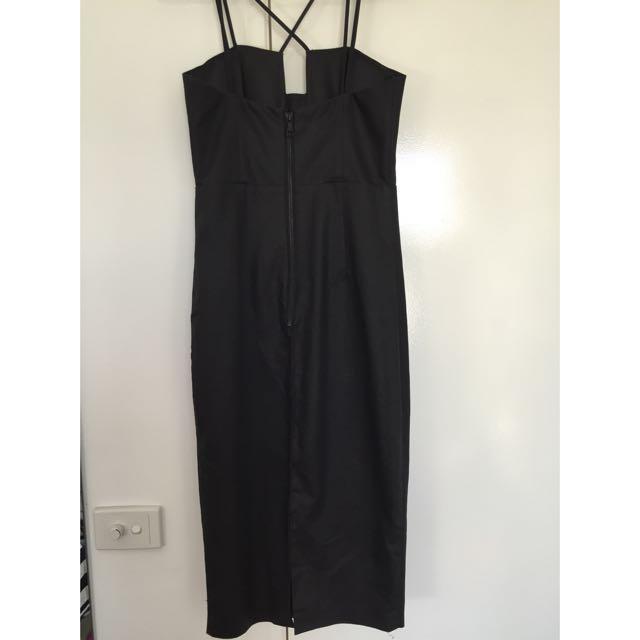 Bardot Wax Coated Midi Dress