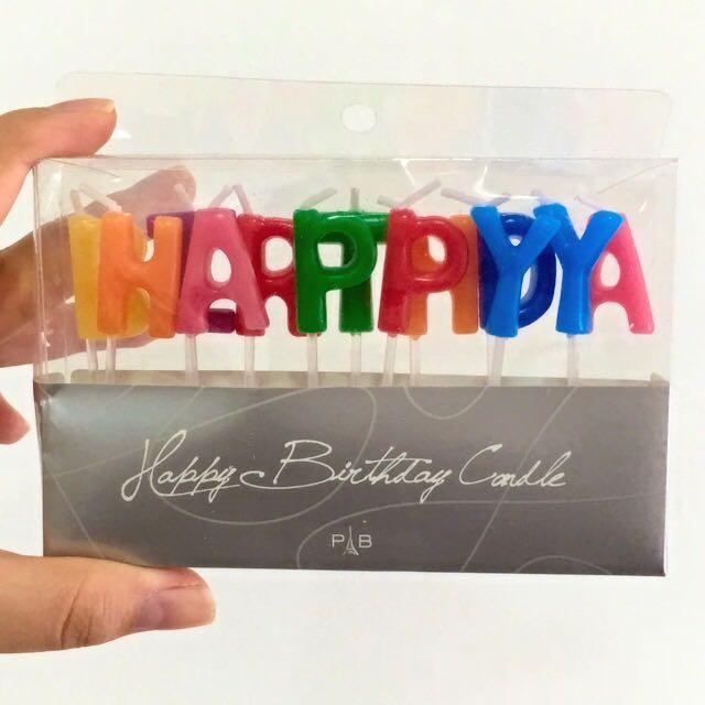 BNIB Paris Baguette Happy Birthday Candles
