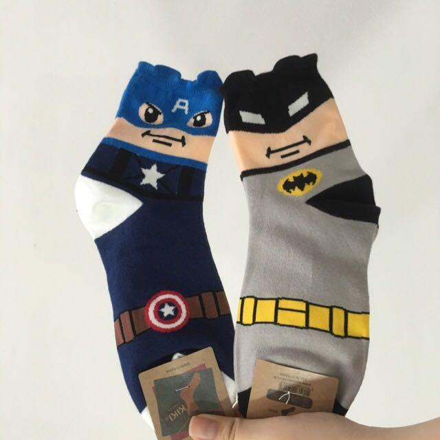 BNWT In Stocks Captain America And Bat Man Socks