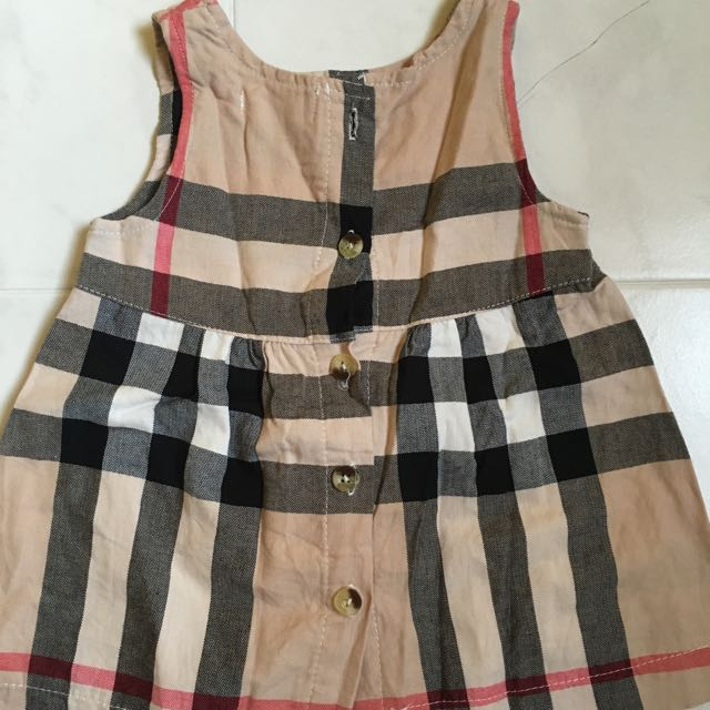 Brand New Burberry Inspired Baby Dress Babies Kids On Carousell