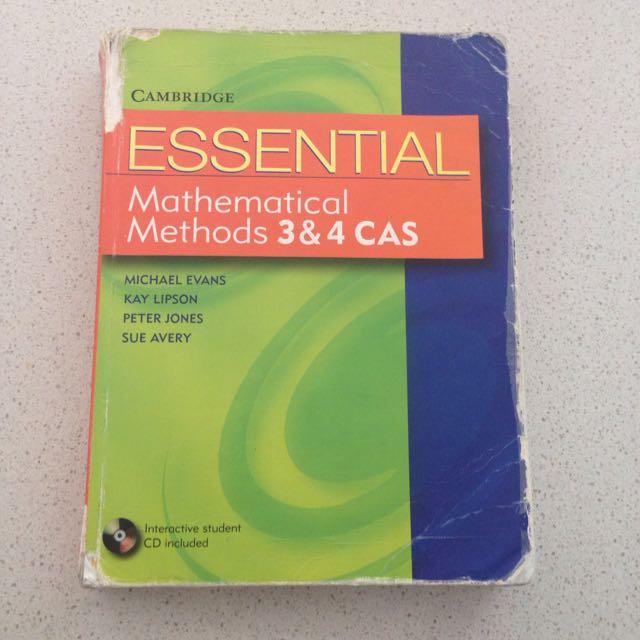 Cambridge Essential Mathematical Methods 3&4 CAS