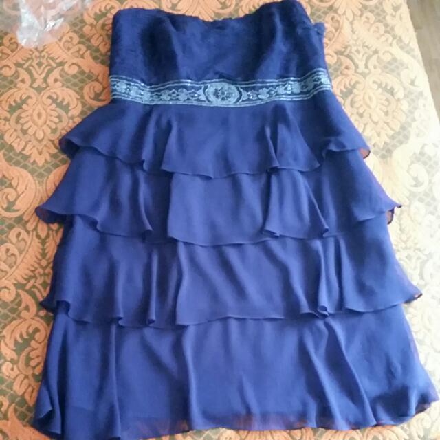City Chic Plus Size Purple Sweetheart Dress