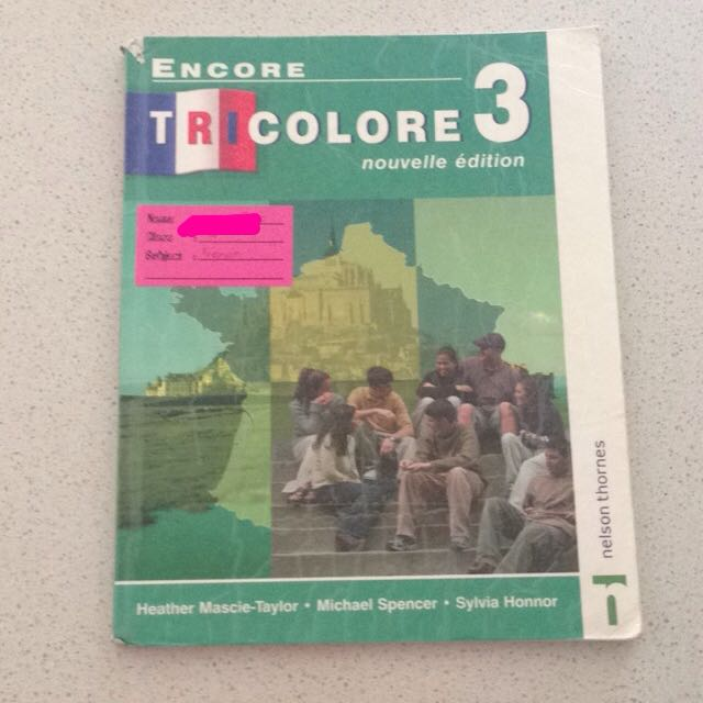 French Textbook: Encore Tricolore 3 by Nelson Thornes