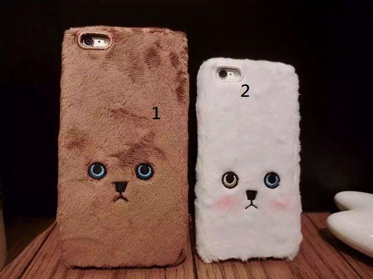 iphone 日韓 森林系 可愛 毛茸茸 貓咪臉 手機殼