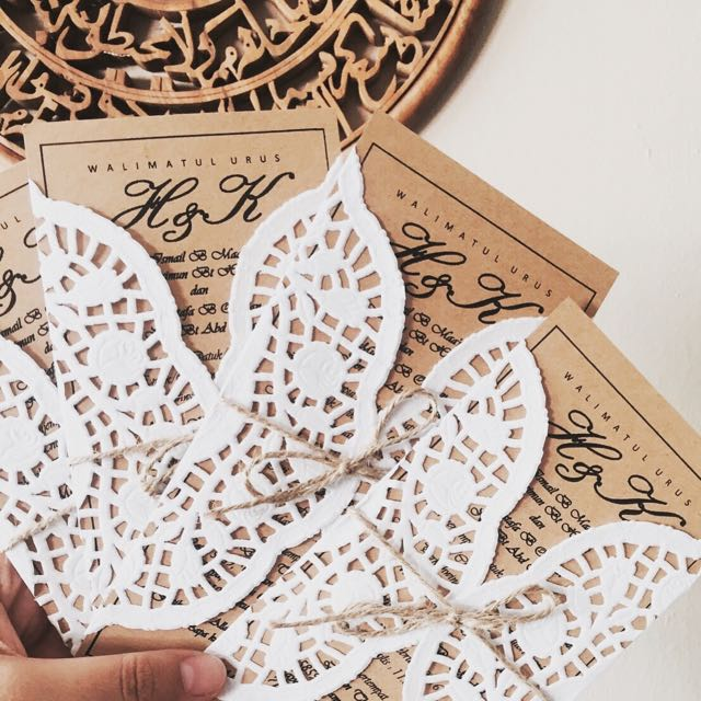 Kad Kahwin Craft Paper Design Craft On Carousell