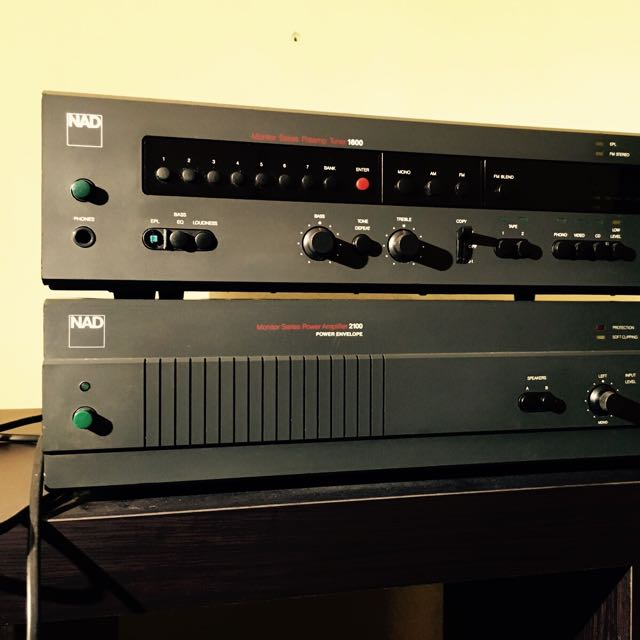 Nad 1600 Tuner Pre Amp / Nad 2100 Power Amp, Music & Media