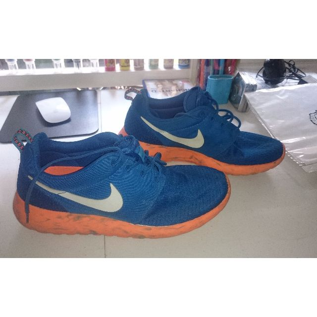 Nike Royal Blue & Total Orange Roshe