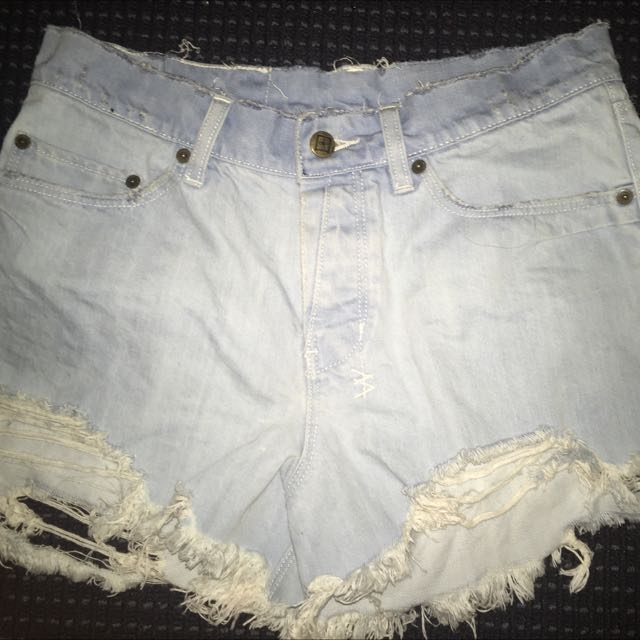 Tsubi Light Washed Demon Shorts