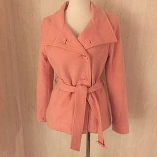 專櫃H2O羊毛粉色大衣