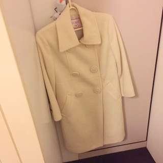 iiMK 羊毛 米白 大衣
