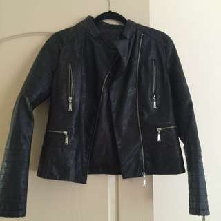 Black Real Leather Coat
