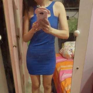 Halter Cobalt Bodycon Dress
