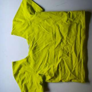 Fluro Lime/yellow Crop