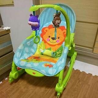 費雪可愛動物可攜式兩用安撫躺椅