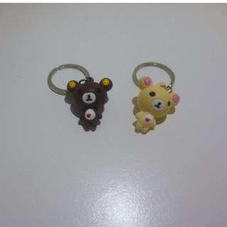 Bear couple keychain
