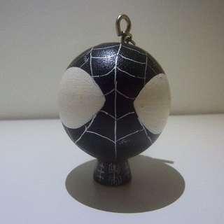 Big Head Black Spiderman keychain