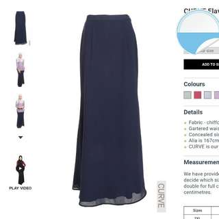 PENDING Poplook Curve Flavie Mermaid Chiffon Maxi Skirt