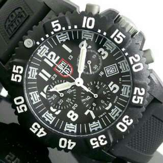 BRAND NEW Luminox 3081 Chronograph Watch With Rubber Strap