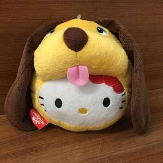 全新日本帶回Hello Kitty 變身系列 小黃狗 伸縮票夾
