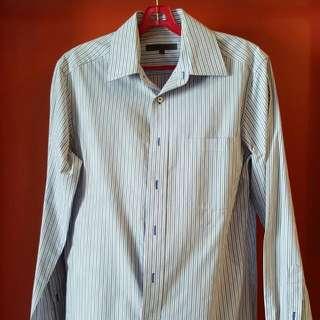 G2000 Blue Striped Shirt Size 15